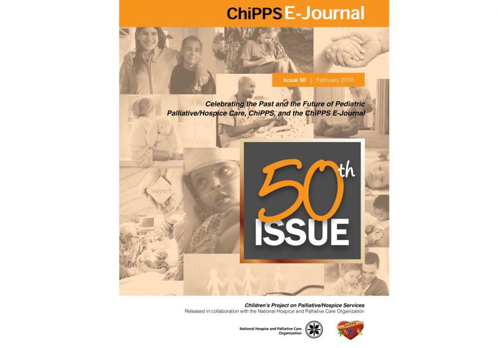 50th Issue of ChiPPS E-Journal looks at past and future of paediatric palliative care
