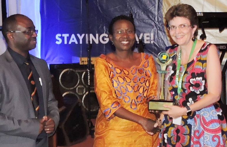 ICPCN's Chief Exec receives award recognising her contribution to palliative care in Uganda