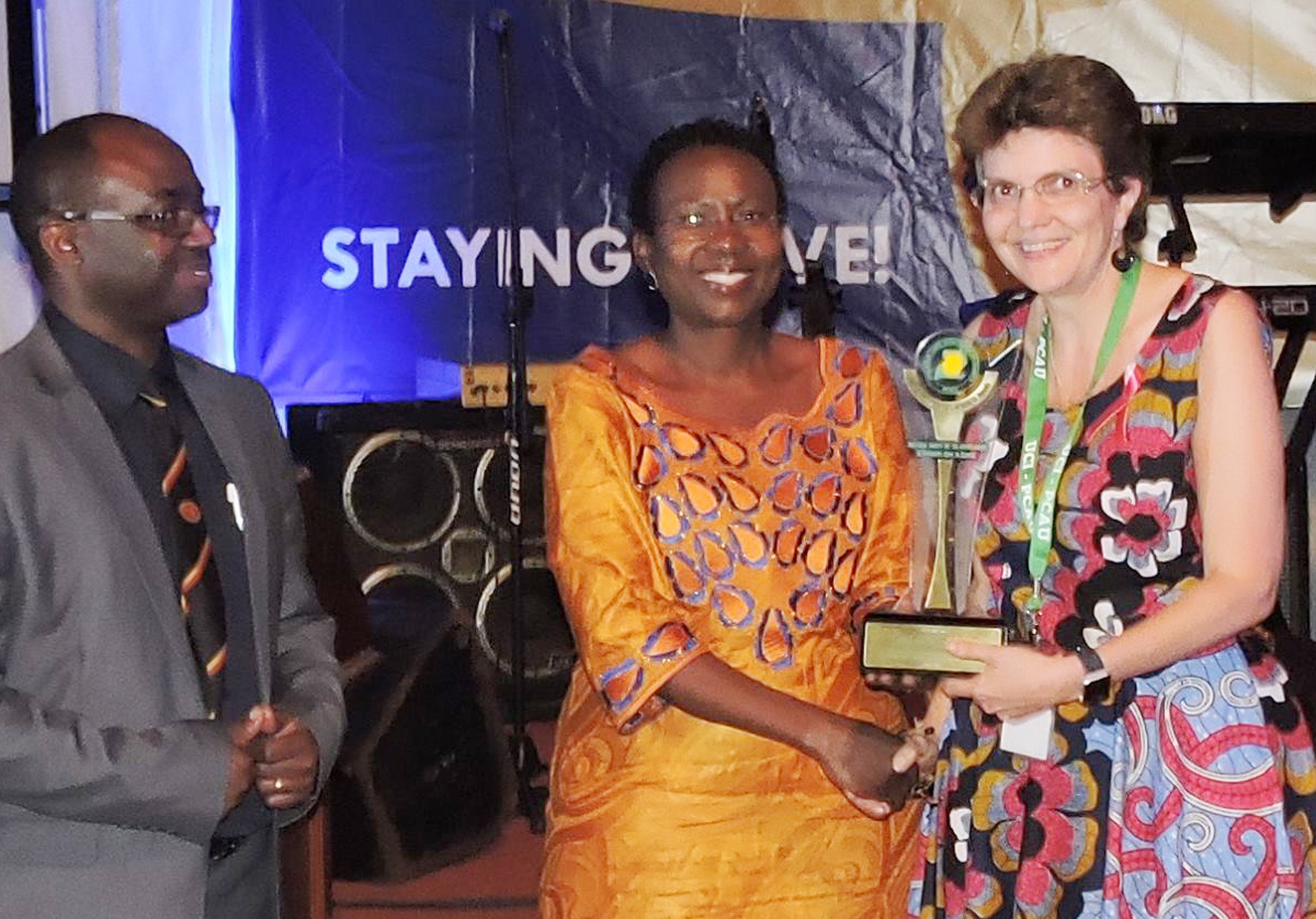 ICPCN's Chief Exec receives award recognising her contribution to palliative care in Uganda