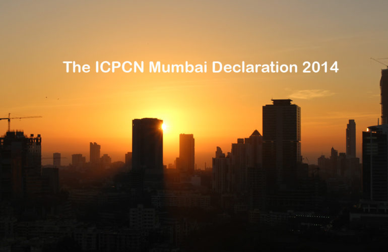 ICPCN Mumbai Declaration 2014 – call for support