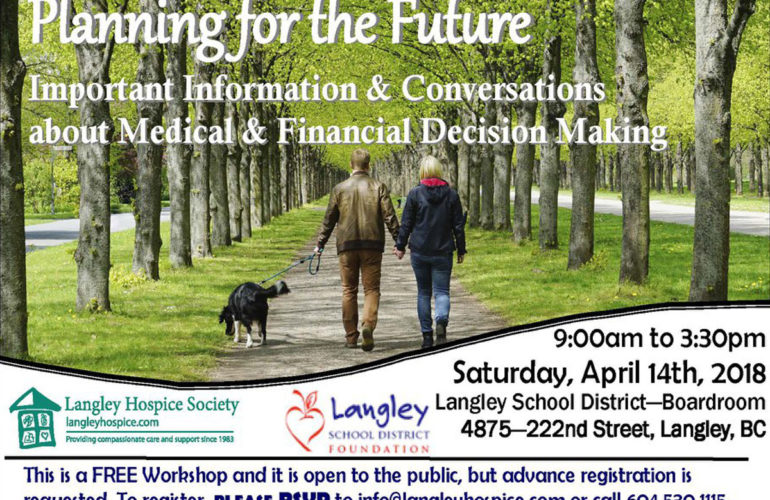 Langley Hospice Society, BC, Offers to Help Plan for Your Future