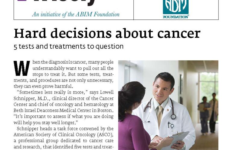 Hard decisions about cancer