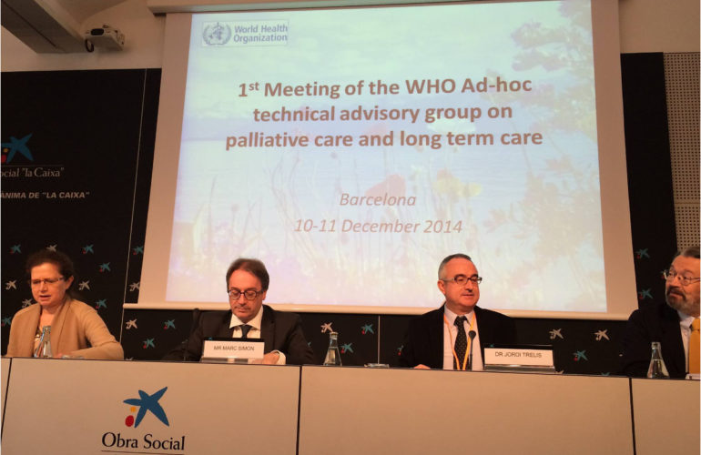 WHO Technical Advisory Group on Palliative Care and Long Term Care begins discussions in Barcelona