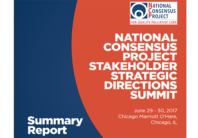 2017 NCP National Summit for Quality Palliative Care Summary Report