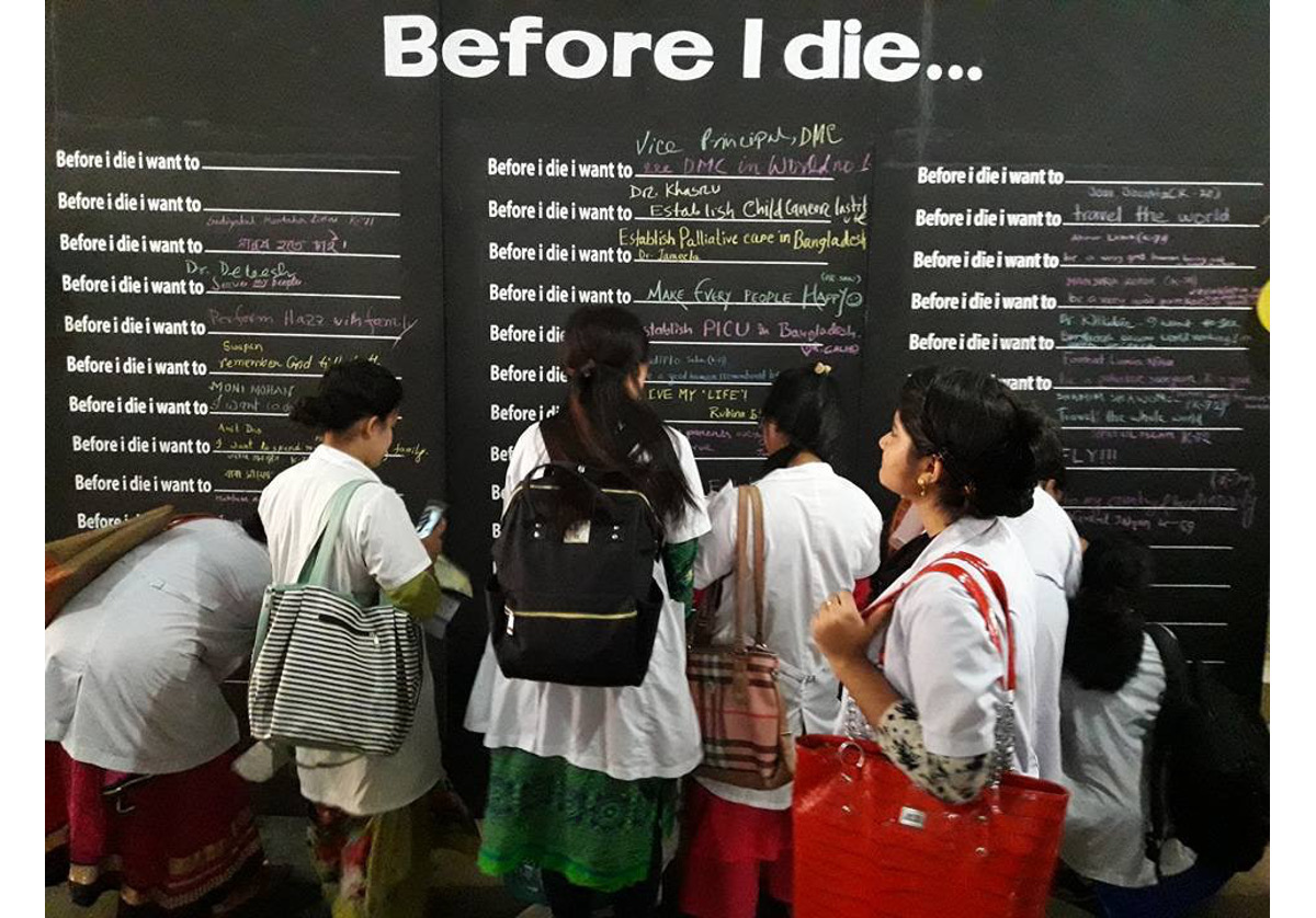 Death is inevitable but it does not mean we should not celebrate life: a reflection of the Before I Die wall in Bangladesh