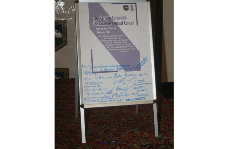 Organisations sign declaration against cancer