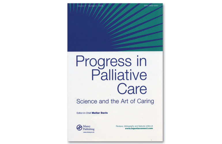 Progress in Palliative Care is interested in your research