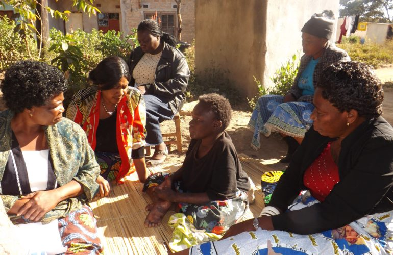 Training community caregivers in Zambia