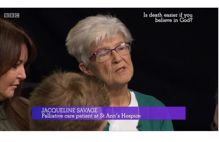 Hospice patient talks about drawing strength from God on BBC show