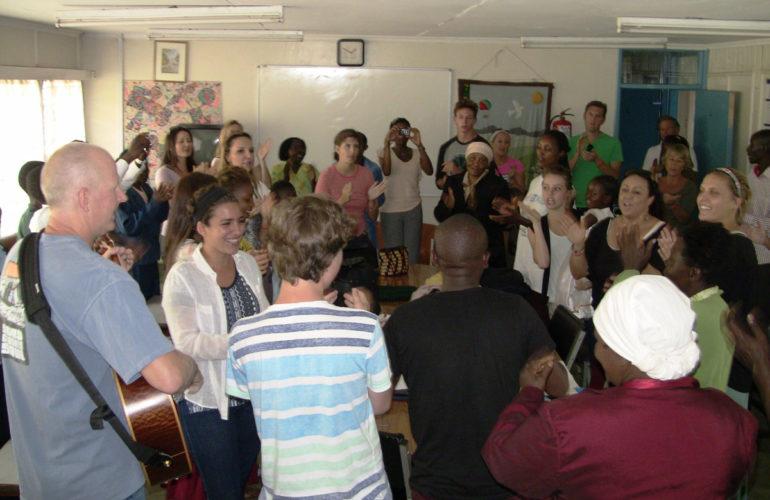 Nairobi Hospice receives visitors from Mariners Church, USA