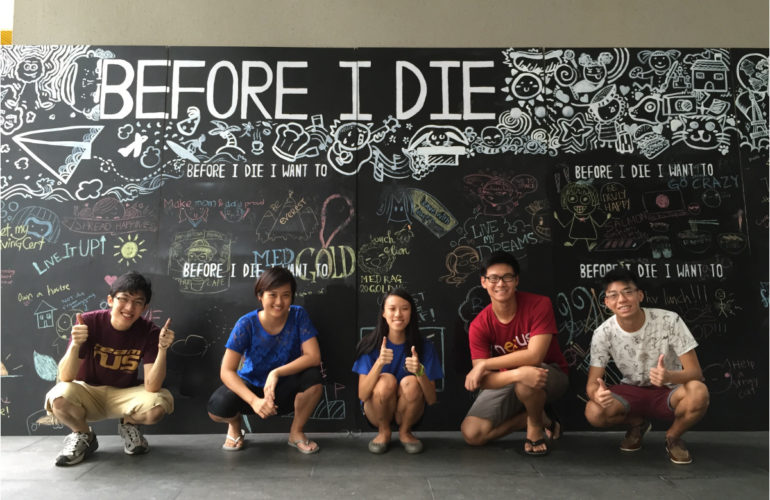 """Write about it, talk about it: students bring """"Before I Die"""" project to Singapore"""