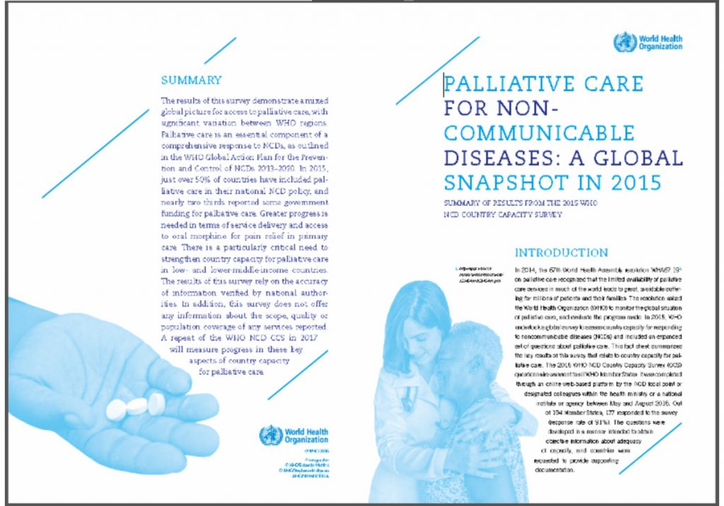 Palliative care for noncommunicable diseases: a global snapshot in 2015