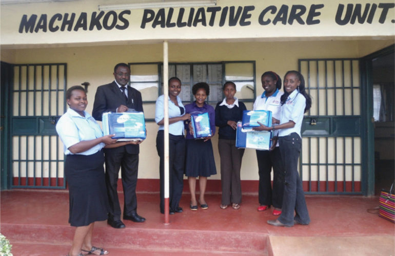 Bed sheets and Diapers donation to Machakos Hospital and PCU