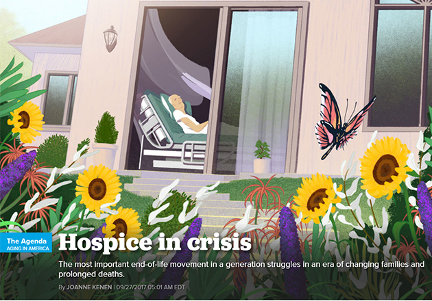 Politico examines challenges facing hospice in U.S.