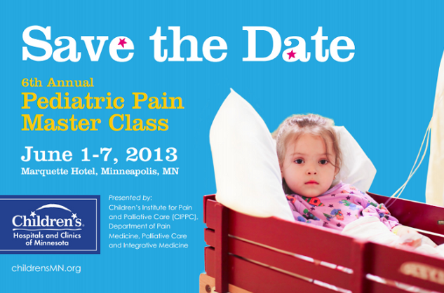 6th Annual Pediatric Pain Master Class to be held in Minneapolis, USA