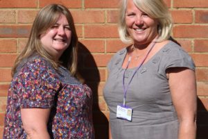 Andrea Lambert and Jo Clarke from Rennie Grove Hospice Care