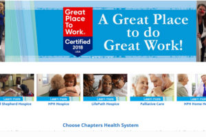 Chapters Health - A Great Place to Work honoree.