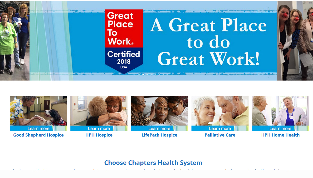 Chapters Health System Recognized by the Great Place to Work® Institute