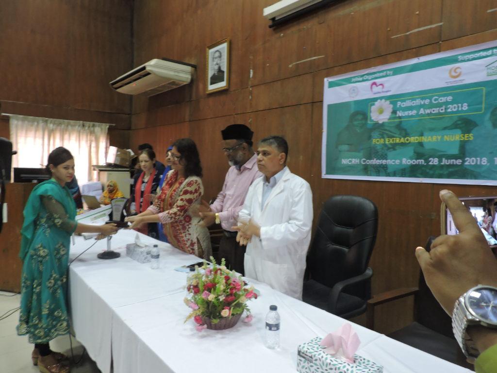 Bangladesh national Palliative Care Nurse Awards recognise the contribution of home care nurses