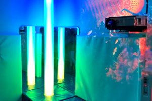 Light tubes and interactive screen