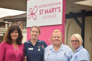 Chief Executive Tina Swani with nurses Emma Kelly Hayley Kerrigan and Julie Cartmell (3)