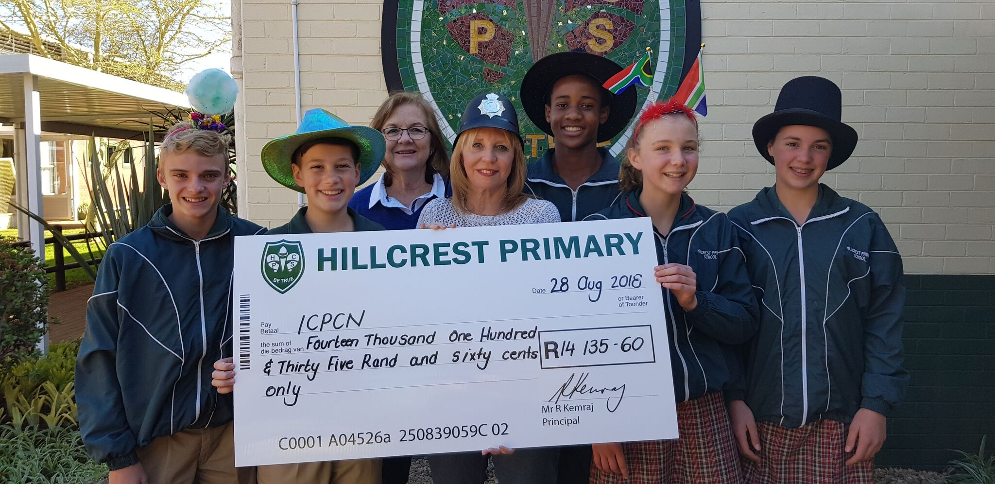 Funky Hat Day at Hillcrest Primary School kicks off ICPCN #HatsOn4CPC campaign