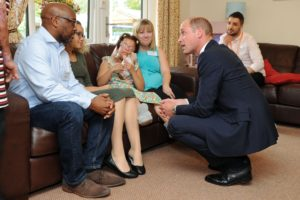 HRH meets the Robinson Family at Acorns