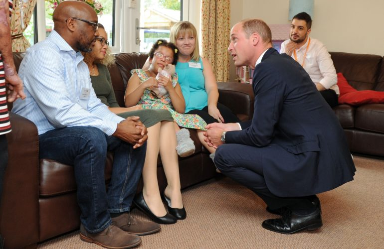 The Duke of Cambridge visits children's hospice to mark 30th anniversary