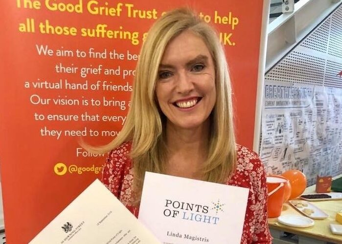 Bereavement charity founder receives Prime Minister's award