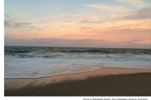 Delaware Hospice volunteer shares a photo from a visit to Rehobeth Beach.