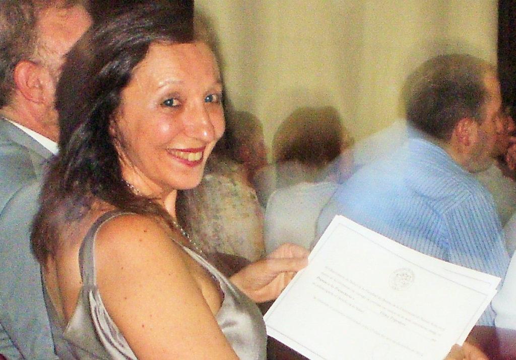 """""""2ª Edición Premios Observatorio de Salud 2015"""" Premio a la trayectoria Dra. Vilma Tripodoro y Dr. Gustavo De Simone. Bs.As."""