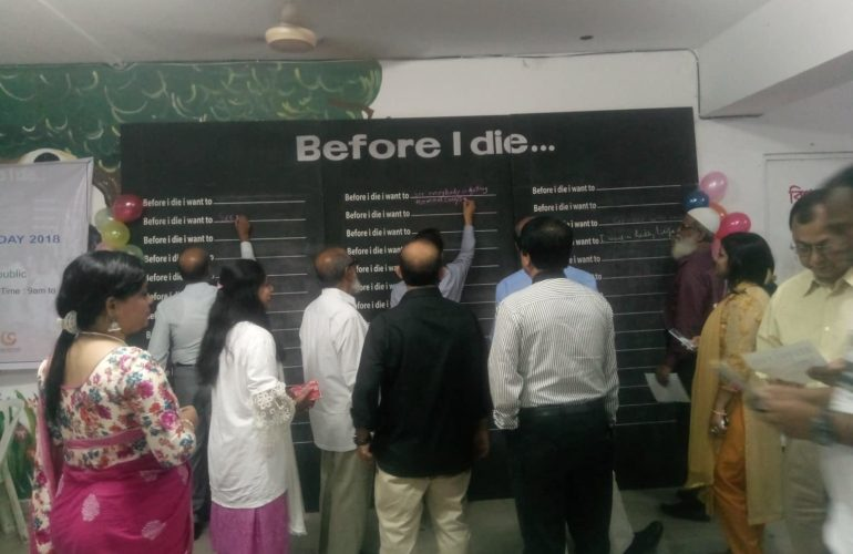 Bangladeshi medical students reflect on 'Before I Die' board on World Hospice and Palliative Care Day 2018