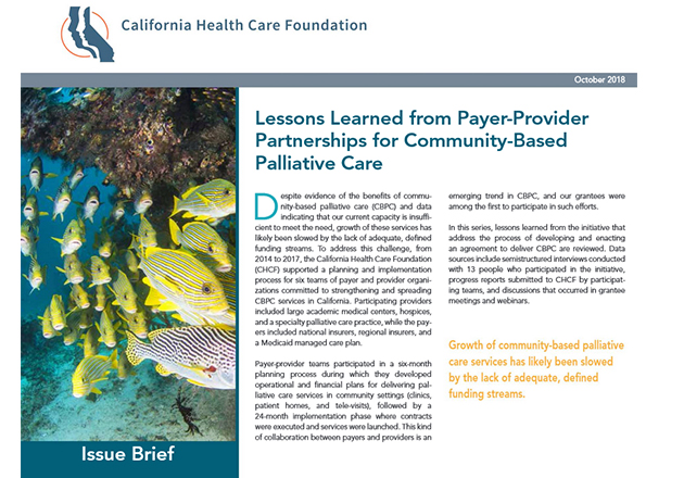 Issue Brief Released by California Health Care Foundation