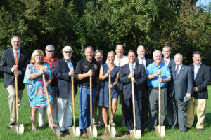 Groundbreaking ceremony for Compass Regional Hospice expanded Centreville hospice center.