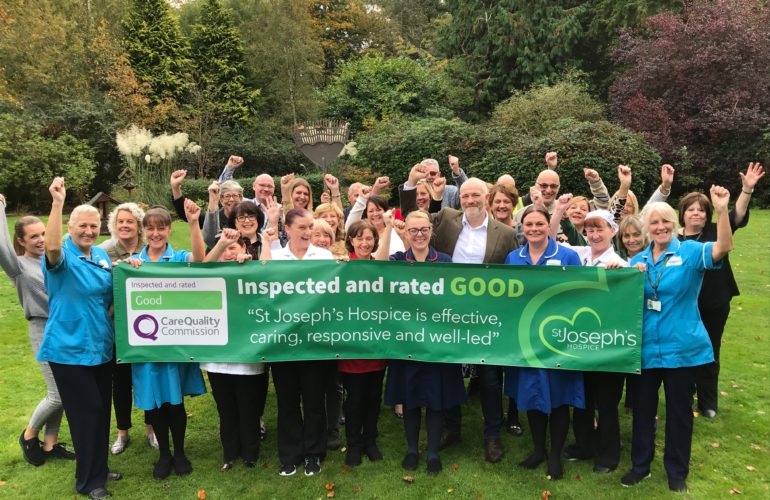 St. Joseph's Hospice rated 'good' by CQC