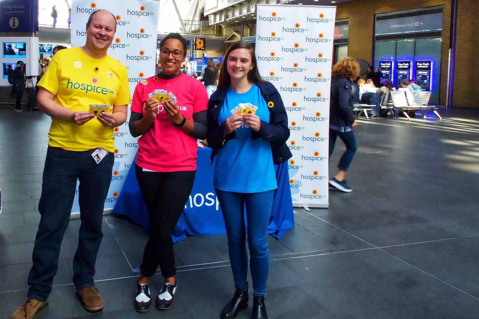 Taking Hospice Care Week to King's Cross station