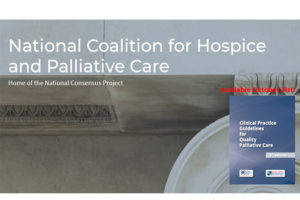 Scheduled for publication Oct. 31, the Clinical Practice Guidelines for Quality Palliative Care, 4th edition.