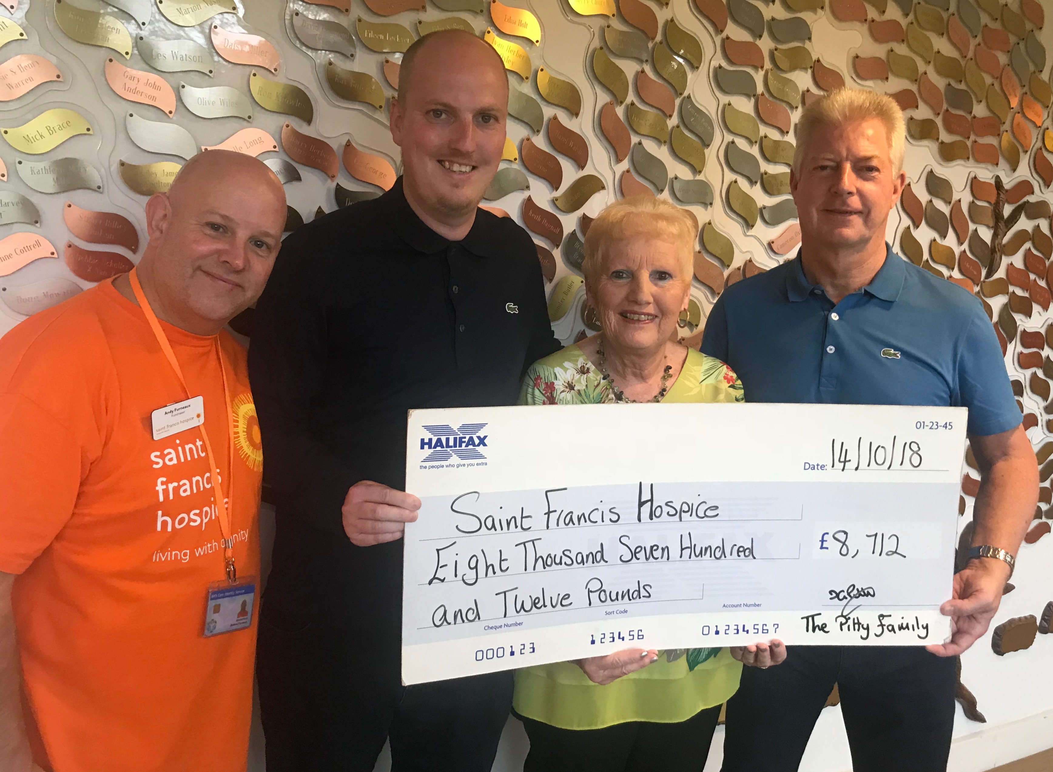 Family's impressive fundraising efforts for Saint Francis Hospice