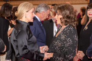 HRH The Countess of Wessex, Royal Patron with Dame Joan Collins, Patron of Shooting Star Chase Credit Bruce Middlemiss