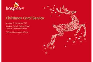 Hospice UK Christmas carol service 2018