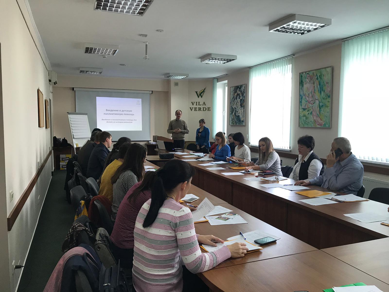 Training for professionals on children's palliative care in Moldova