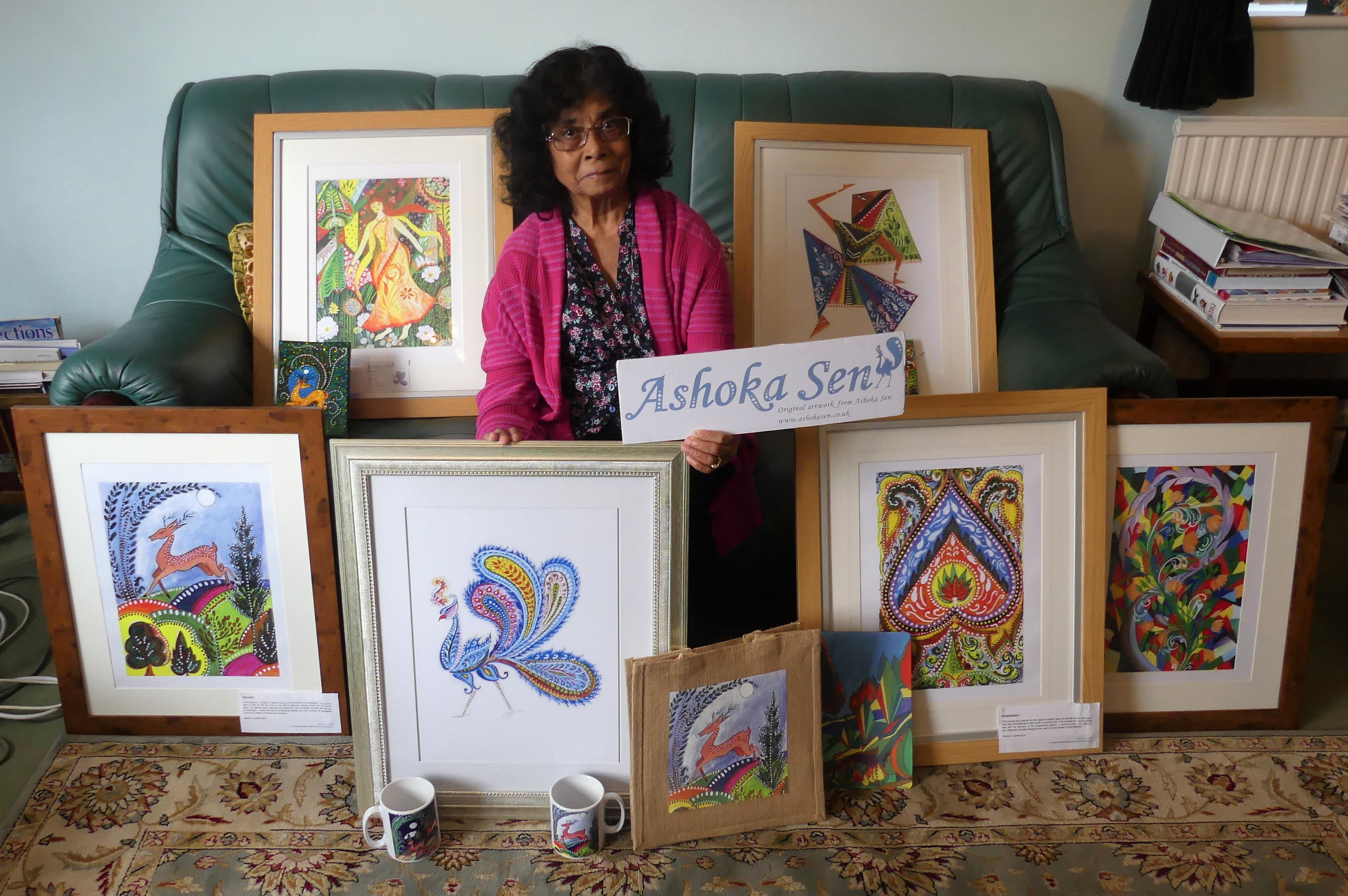Patient donates lifetime of artwork to raise funds for Ashgate Hospicecare