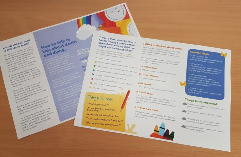 St Clare launches guide to help parents talk about death