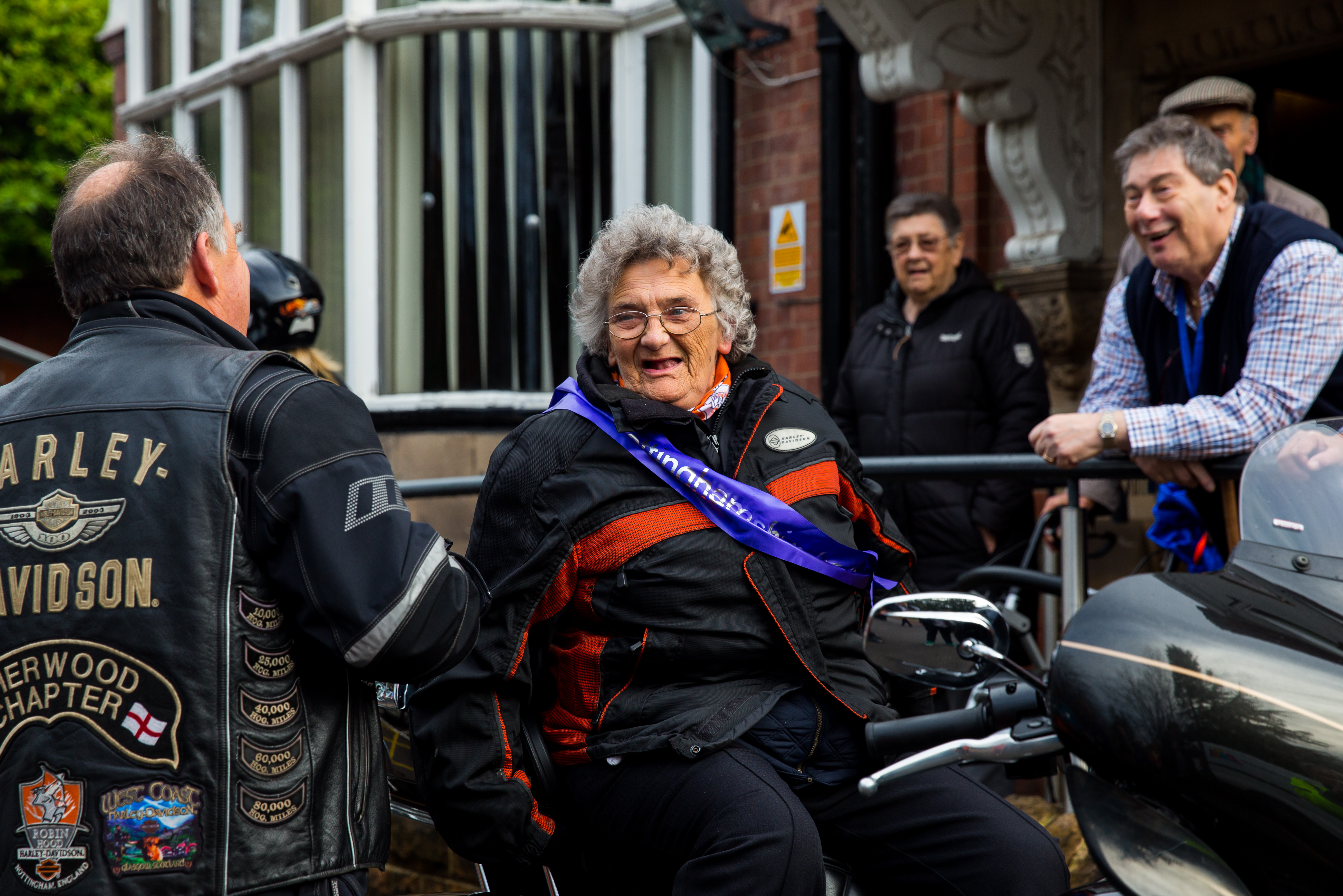 Nottinghamshire  Hospice and local bikers help deliver bucket list wish for patient Phyllis