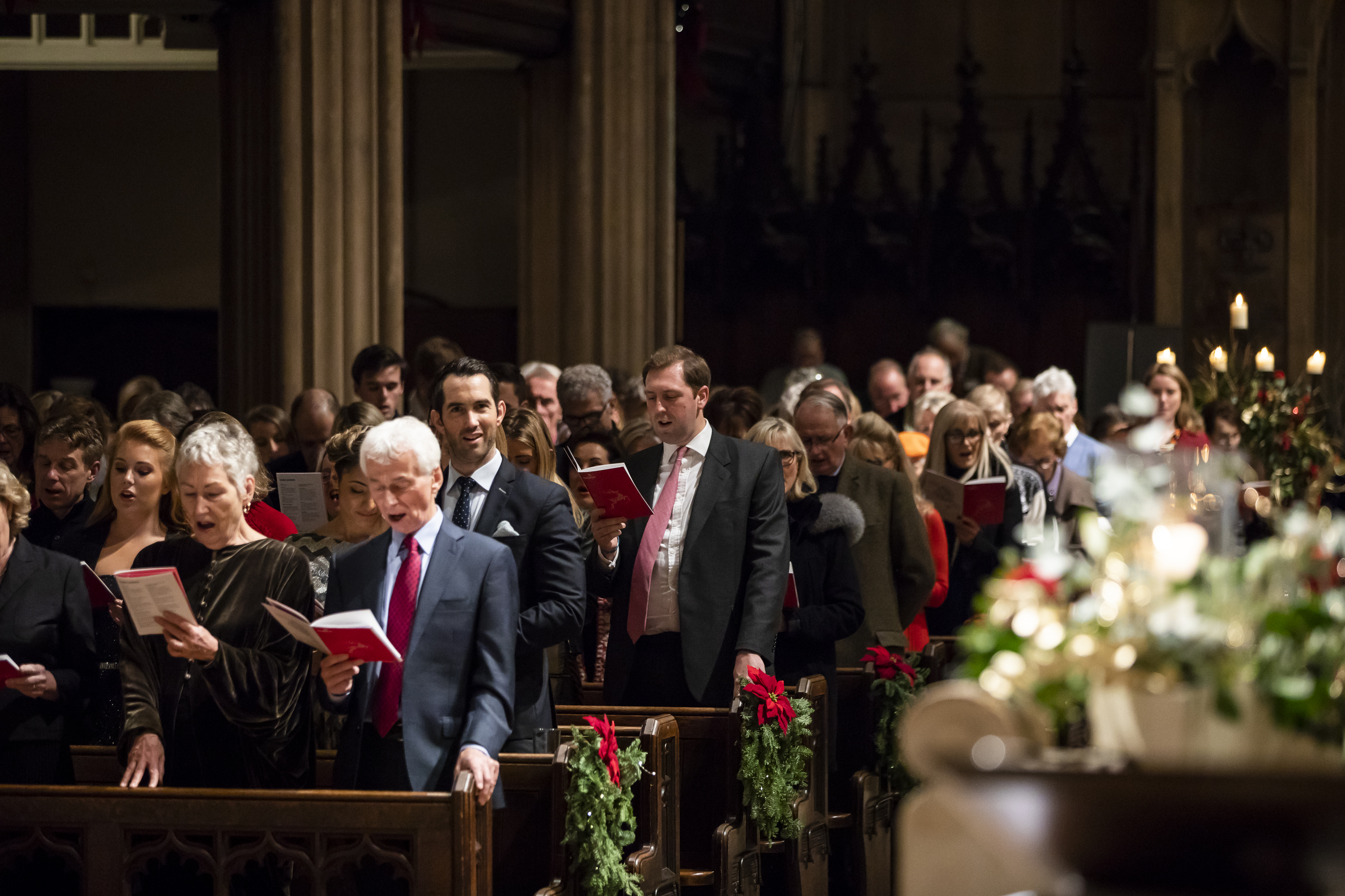 Stars come out for Hospice UK's Christmas carol service