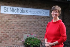 Barbara Gale, CEO of St Nicholas Hospice Care, was awarded an MBE for her services to hospice care and the Suffolk community