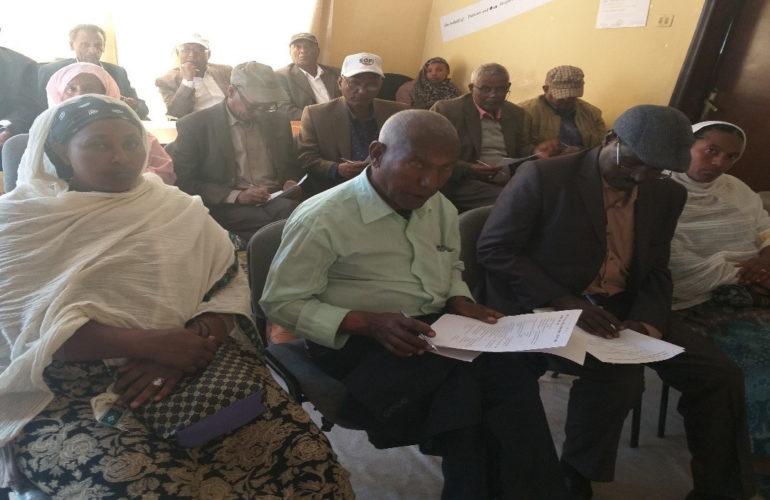 Palliative care patient advocate educates community leaders in Ethiopia