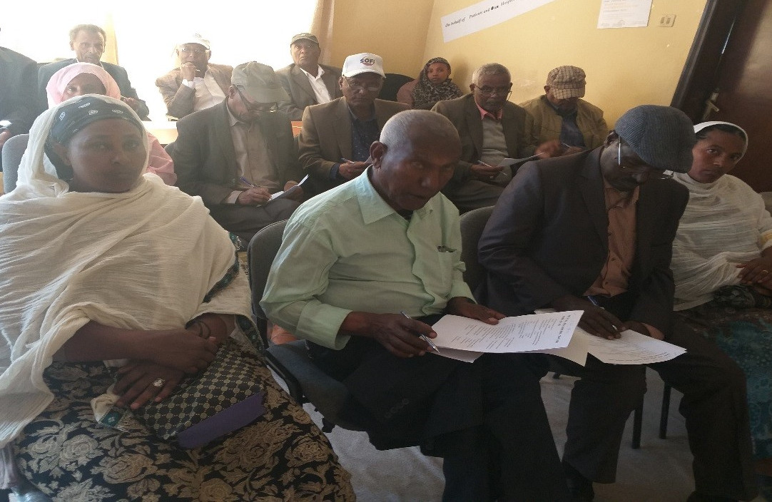 Palliative care patient advocate educates community leaders in Ethiopia
