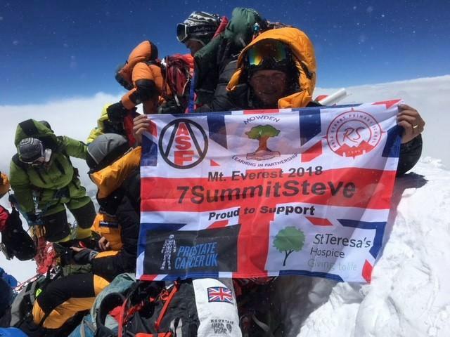 Hospice supporter receives award while climbing Antarctica's tallest mountain