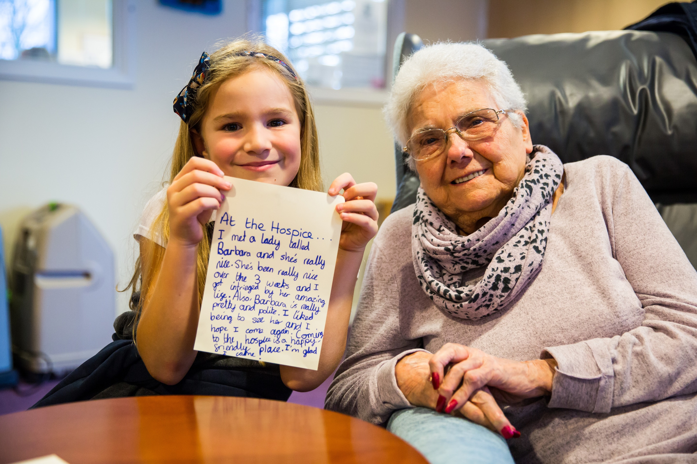 Schoolchildren partner with hospice patients in new buddying scheme